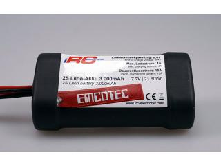 2S LiIon-Akku 3000mAh Compact Black Edition 15A